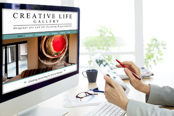 Website Design for Creative Life Gallery