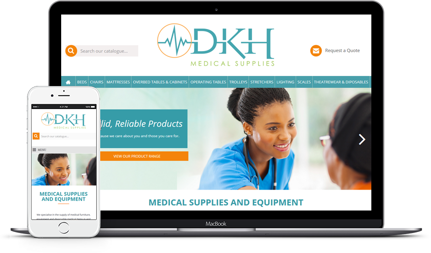 DKH Medical Supplies - Design & Development Online Cataloge Website