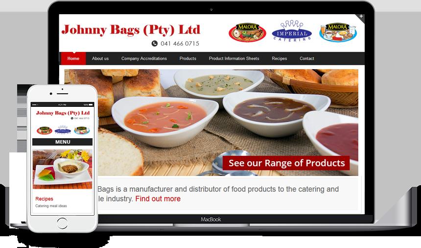 Wordpress Website Design Johnny Bags