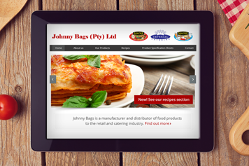 Web Design Johnny Bags Food Manufacturing